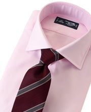 Load image into Gallery viewer, Pink cotton shirt with tie