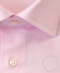 Close up of pink cotton shirt