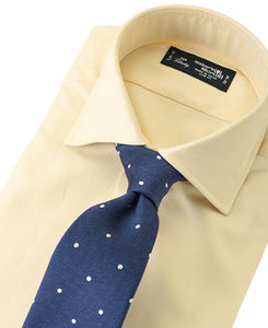 Yellow cotton shirt with tie