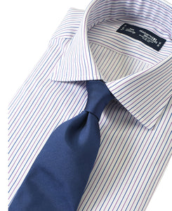 Purple stripe cotton shirt with tie