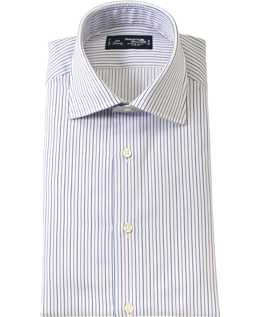 Purple stripe cotton shirt