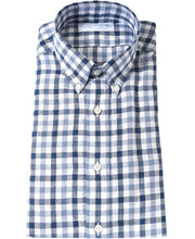 Load image into Gallery viewer, Blue check linen shirt