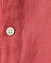 Load image into Gallery viewer, Close up of red linen shirt