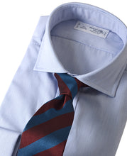 Load image into Gallery viewer, Blue stripe cotton shirt with tie