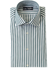 Load image into Gallery viewer, Green stripe cotton shirt