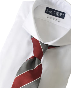 White cotton shirt with tie