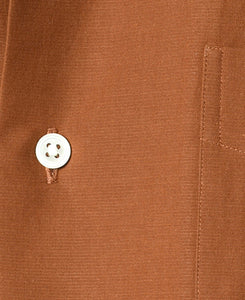 Close up of orange Cotton and paper short sleeve shirt