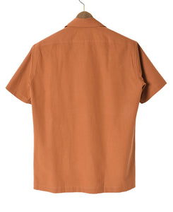 Back of orange Cotton and paper short sleeve shirt