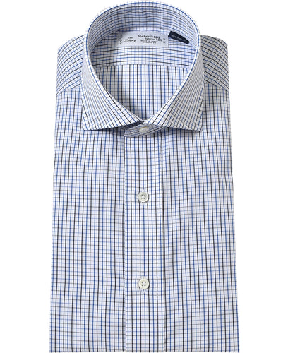 Blue check cotton shirt