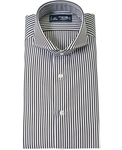 Brown stripe cotton shirt