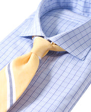 Load image into Gallery viewer, Blue check cotton shirt with tie