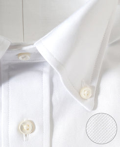 Close up of white cotton shirt