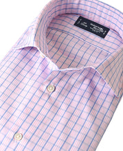 Load image into Gallery viewer, Close up of pink check cotton shirt