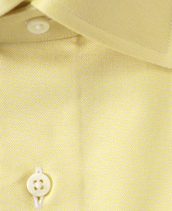 Close up of yellow cotton shirt