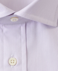 Close up of purple cotton shirt