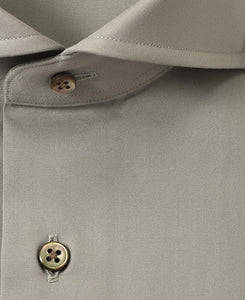Close up of gray cotton shirt