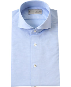 Blue cotton and polyester shirt