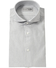 Load image into Gallery viewer, Gray stripe cotton and polyester shirt