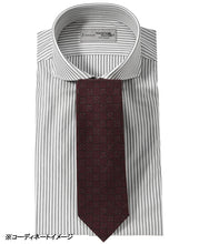Load image into Gallery viewer, Gray stripe cotton and polyester shirt with tie