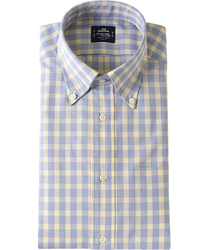 Yellow check cotton shirt