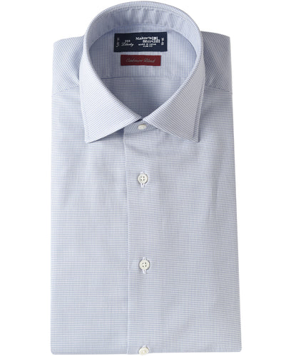 Blue  hound's tooth cotton and cashmere shirt