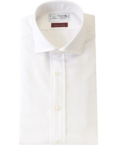 White cotton and  cashmere shirt