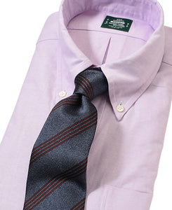 Purple cotton shirt with tie