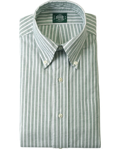 Green stripe cotton shirt