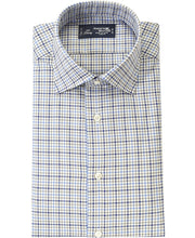 Load image into Gallery viewer, Blue check cotton shirt