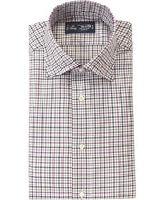 Load image into Gallery viewer, Purple check cotton shirt