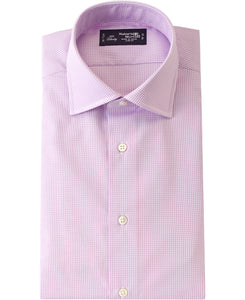 Purple check cotton shirt