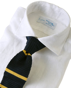 White linen shirt with tie