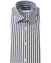 Load image into Gallery viewer, Blue stripe cotton shirt