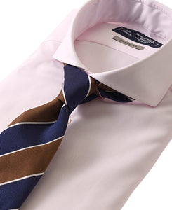 Pink cotton and polyester shirt with tie