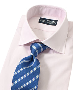 Pink check cotton shirt with tie