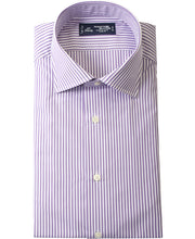 Load image into Gallery viewer, Purple stripe cotton shirt