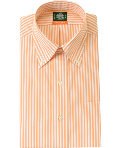 Orange stripe cotton shirt