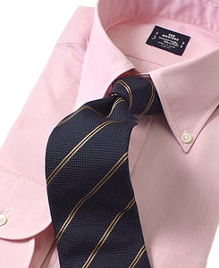 Pink cotton shirt with tie