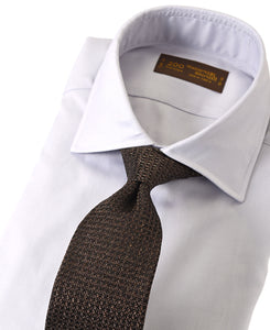 Gray cotton shirt with tie