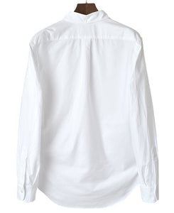 Back of white cotton shirt