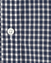 Load image into Gallery viewer, Navy check coton shirt