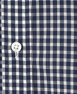 Navy check coton shirt