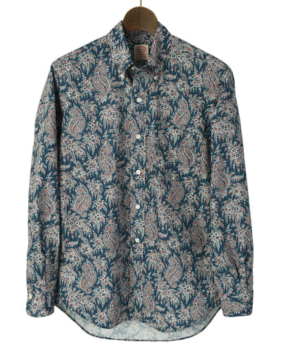 Blue paisley cotton shirt