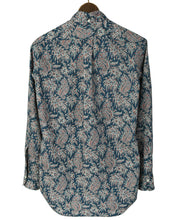 Load image into Gallery viewer, Back of blue paisley cotton shirt