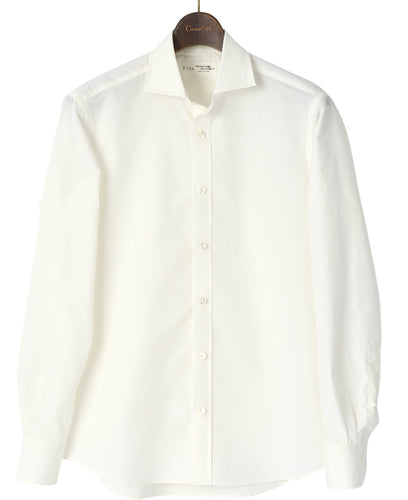 White cotton and washi shirt