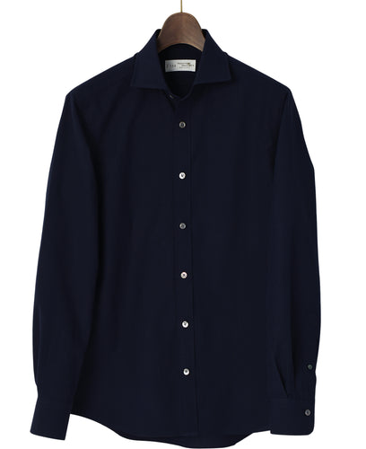 Navy cotton and washi shirt