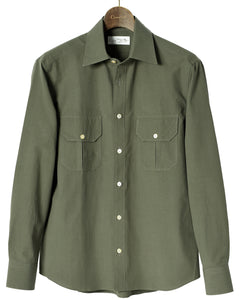 Green cotton and washi shirt