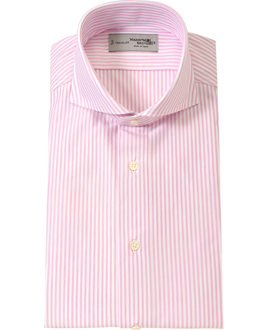 Pink stripe cotton and polyester shirt
