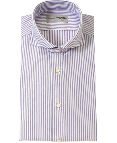 Purple stripe cotton and polyester shirt