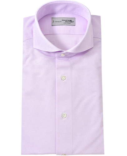 Purple cotton and polyester shirt